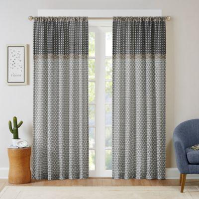 Intelligent Design Charlie 63-Inch Rod Pocket Window Curtain Panel in Grey