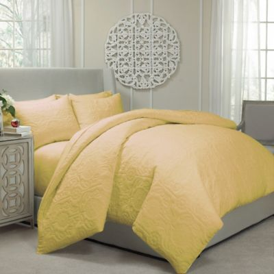 Vue® Barcelona Convertible King Coverlet-to-Duvet Cover Set in Gold