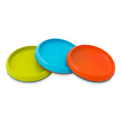 Boon® PLATE Edgeless Non-Skid Plates in Lime/Teal/Orange (Set of 3)
