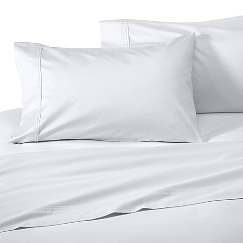 wamsutta supima supreme luxury queen deep pocket fitted sheet in white bed bath beyond. Black Bedroom Furniture Sets. Home Design Ideas