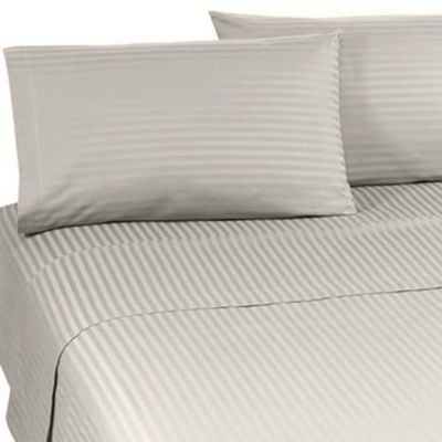 Wamsutta® Supima® Supreme Luxury Open Stock Queen Flat Sheet in Ivory Stripe