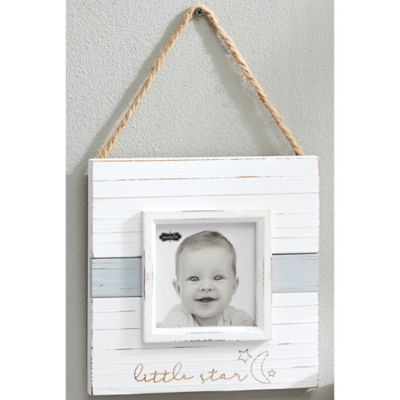 "Mud Pie® ""Little Star"" Distressed Wood Picture Frame in White"