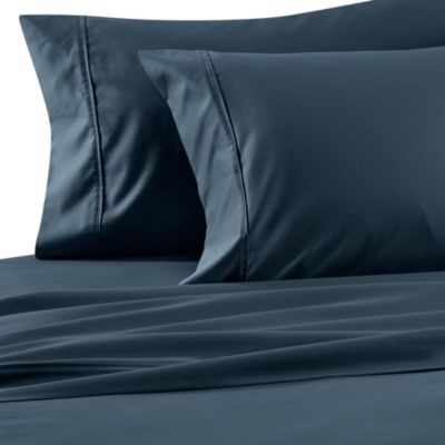 Wamsutta® Wrinkle-Free Pima Sateen Open Stock King Flat Sheet in Mirage Blue