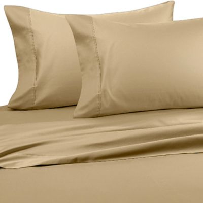 Wamsutta® Wrinkle-Free Pima Sateen Open Stock Queen Flat Sheet in Honey
