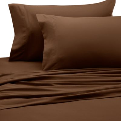 Wamsutta® Perfect Pinpoint Open Stock King Fitted Sheet in Mocha