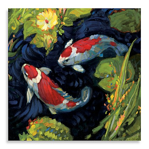 Weatherprint 24 x 24 koi fish wall art bed bath beyond for Local koi fish for sale