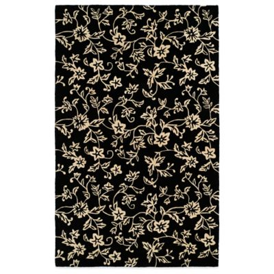 Harounian South Beach 8-Foot x 11-Foot Room Size Rug in Black