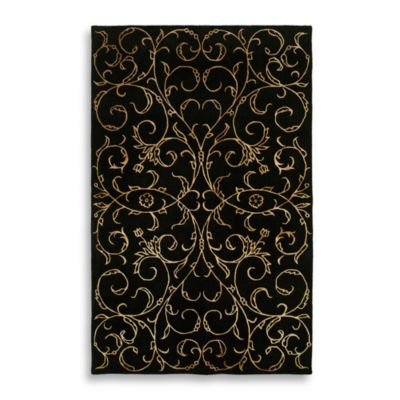 Eden Park 5-Foot x 8-Foot Black Room Size Rug