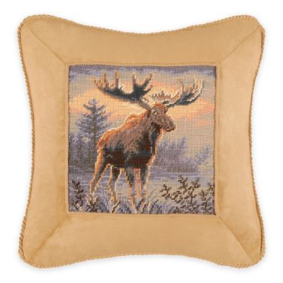 Moose Square Throw Pillow