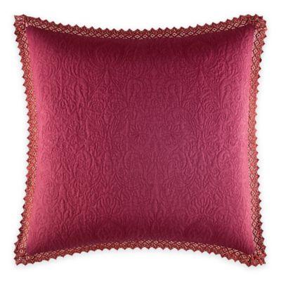 Laura Ashley® Ella European Pillow Sham in Cranberry