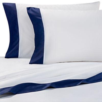 kate spade new york Grace King Pillowcases in Navy (Set of 2)