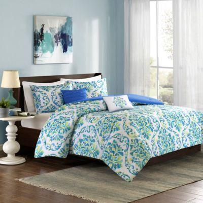 Intelligent Design Ari Full/Queen Comforter Set in Aqua