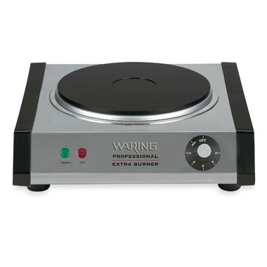 Waring Pro® Brushed Stainless Steel Electric Burner with Single Port
