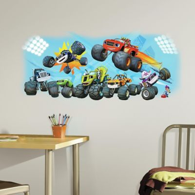 Blaze & Friends Peel and Stick Giant Wall Decal