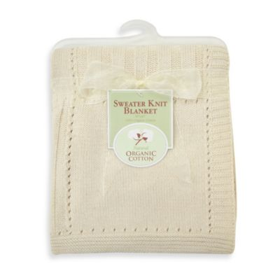 Natural Organic Cotton Sweater Knit Receiving Blanket