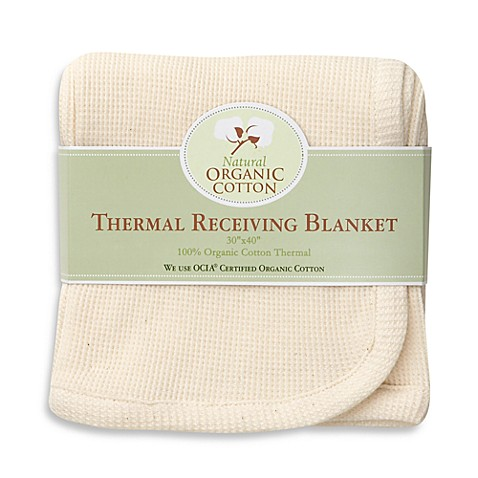 Natural Organic Cotton Thermal Receiving Blanket