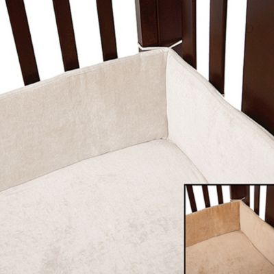 Natural Organic Cotton Crib Bumper in Mocha