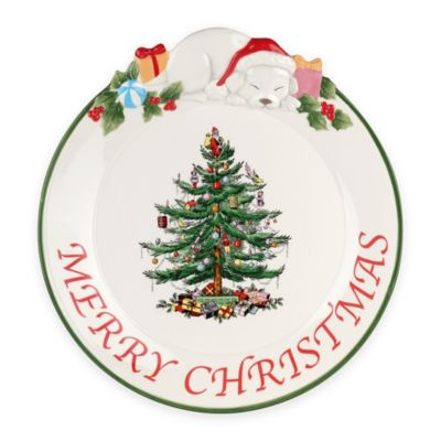 "Spode® Christmas Tree 12-Inch ""Merry Christmas"" Puppy Platter"