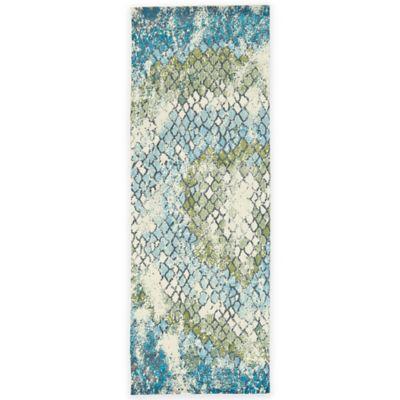 Feizy Gara Tiles 2-Foot 10-Inch x 7-Foot 10-Inch Area Rug in Blue/Green