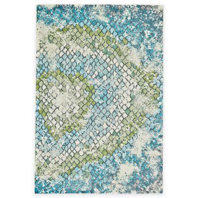 Feizy Gara Tiles 5-Foot x 8-Foot Area Rug in Blue/Green
