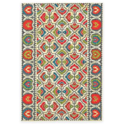 Feizy Girasole 2-Foot 4-Inch x 4-Foot Accent Rug in Watermelon