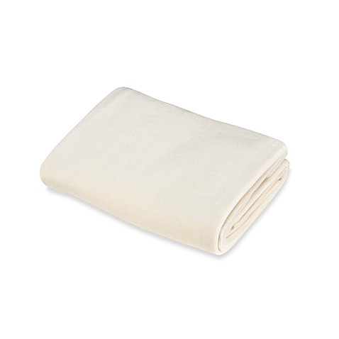 Natural Organic Cotton Velour Changing Pad Cover in Natural