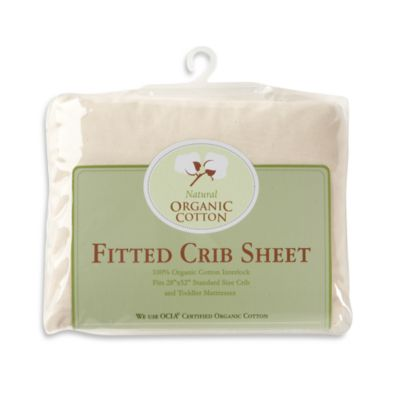 Natural Organic Cotton Jersey Knit Crib Sheet
