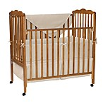 Natural Organic Cotton Velour 3-Piece Porta-Crib Set in Natural