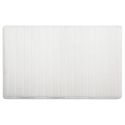 Microdry® Ultimate Luxury SoftLux™ 17-Inch x 24-Inch Memory Foam Bath Mat in White