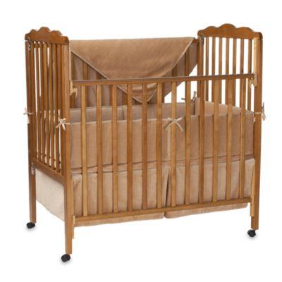Natural Organic Cotton Velour 3-Piece Porta-Crib Set in Mocha