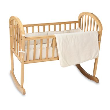 Natural Organic Cotton Velour 3-Piece Cradle Set in Natural