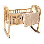 Natural Organic Cotton Velour 3-Piece Cradle Set in Mocha
