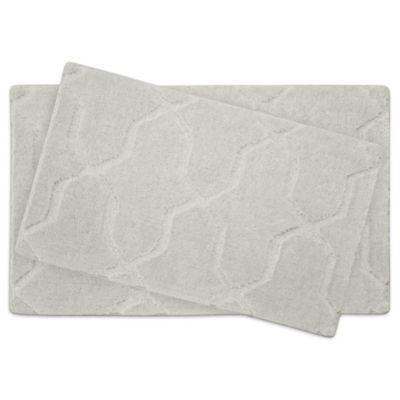 Jean Pierre Pearl Drona Bath Mat in Cream Puff (Set of 2)