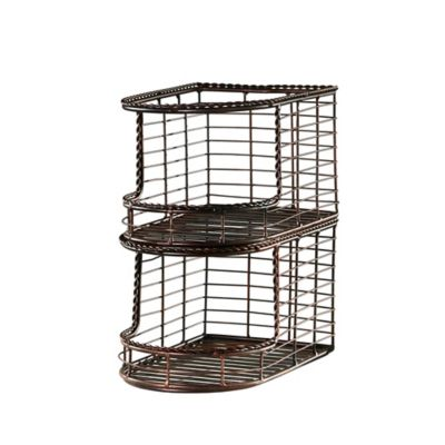 Mesa French Loop Collection Stacking Storage Basket (Set of 2)