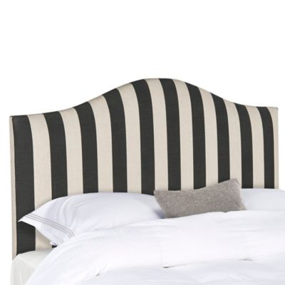 Safavieh Connie Striped Queen Headboard in Black/White