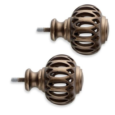 Cambria® Classic Complete Pierced Arch Finials in Oil Rubbed Bronze (Set of 2)
