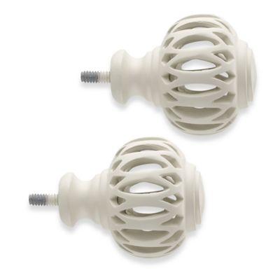 Cambria® Classic Complete Pierced Arch Finials in Satin White (Set of 2)