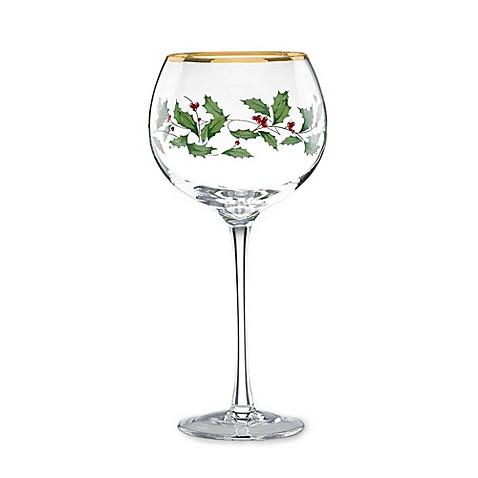 Lenox Holiday Balloon Wine Glasses Set Of 4 Bed Bath Beyond