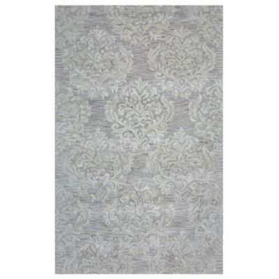 Rizzy Home Marianna Damask 8-Foot x 10-Foot Area Rug in Beige
