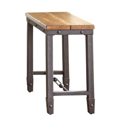 Steve Silver Co. Ashford Chairside End Table in Honey
