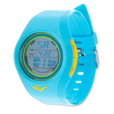 Everlast® Unisex 36mm Soft Touch Digital Watch in Turquoise Rubber w/Turquoise Rubber Strap