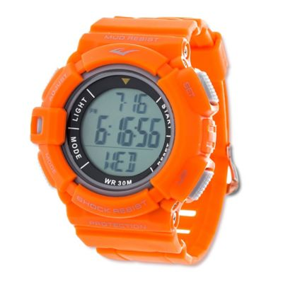 Everlast® Unisex 47mm HR4 Heart Rate Monitor Watch with Orange Rubber Strap