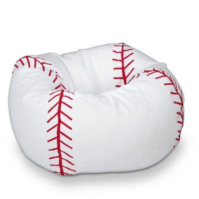 Sports Bean Bag Baseball Chair in White