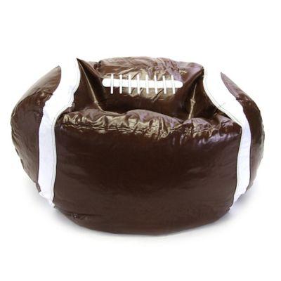 Sports Bean Bag Football Chair in Brown
