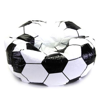 Sports Bean Bag Soccer Chair in Black/White