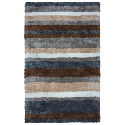 Rizzy Home Common Stripes 5-Foot x 8-Foot Area Rug