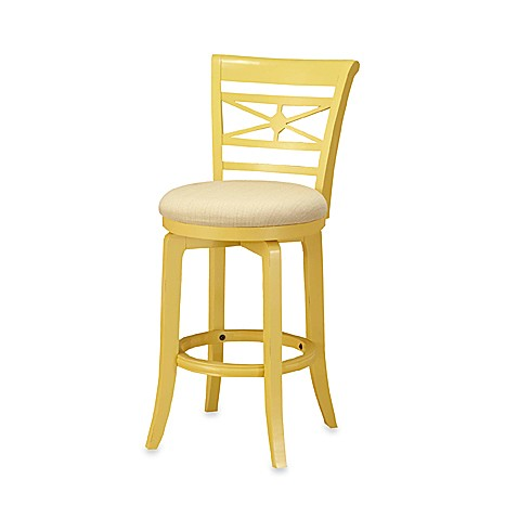 Kingstown 24-Inch Swivel Counter Stool in Yellow