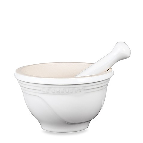 Le Creuset® 10-Ounce Stoneware Mortar and Pestle in White