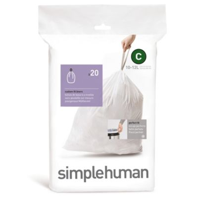 simplehuman® Code C 20-Pack 2.6-3.2-Gallon Custom Fit Liners