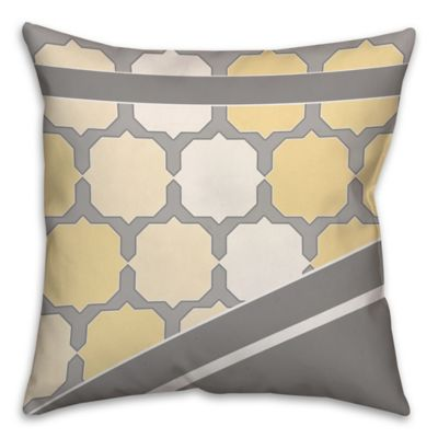 Buy Yellow/Grey Throw Pillows from Bed Bath & Beyond